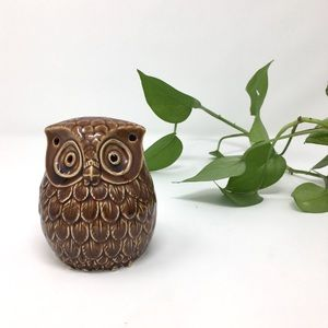 Other - Owl brown tea light candle holder